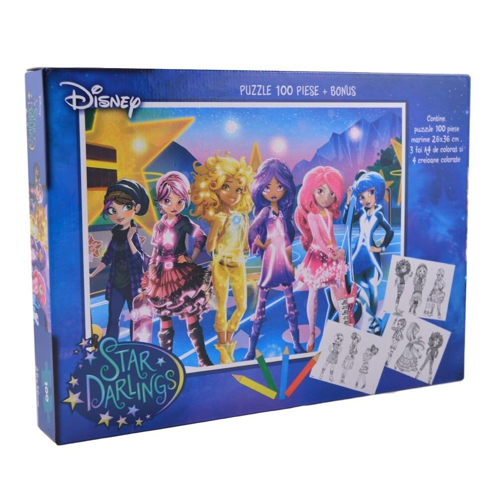 Servieta puzzle Star Darlings, 100 piese