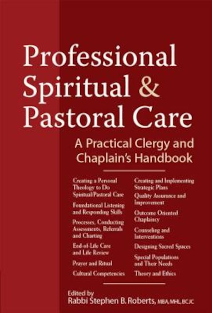 Imagine indisponibila pentru Professional Spiritual & Pastoral Care: A Practical Clergy and Chaplain's Handbook, Paperback