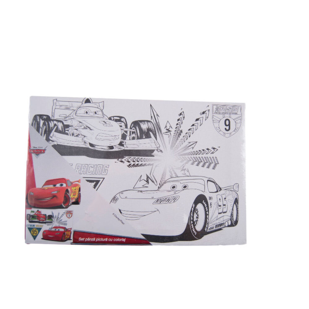 Set panza pictura cu coloriaj Cars