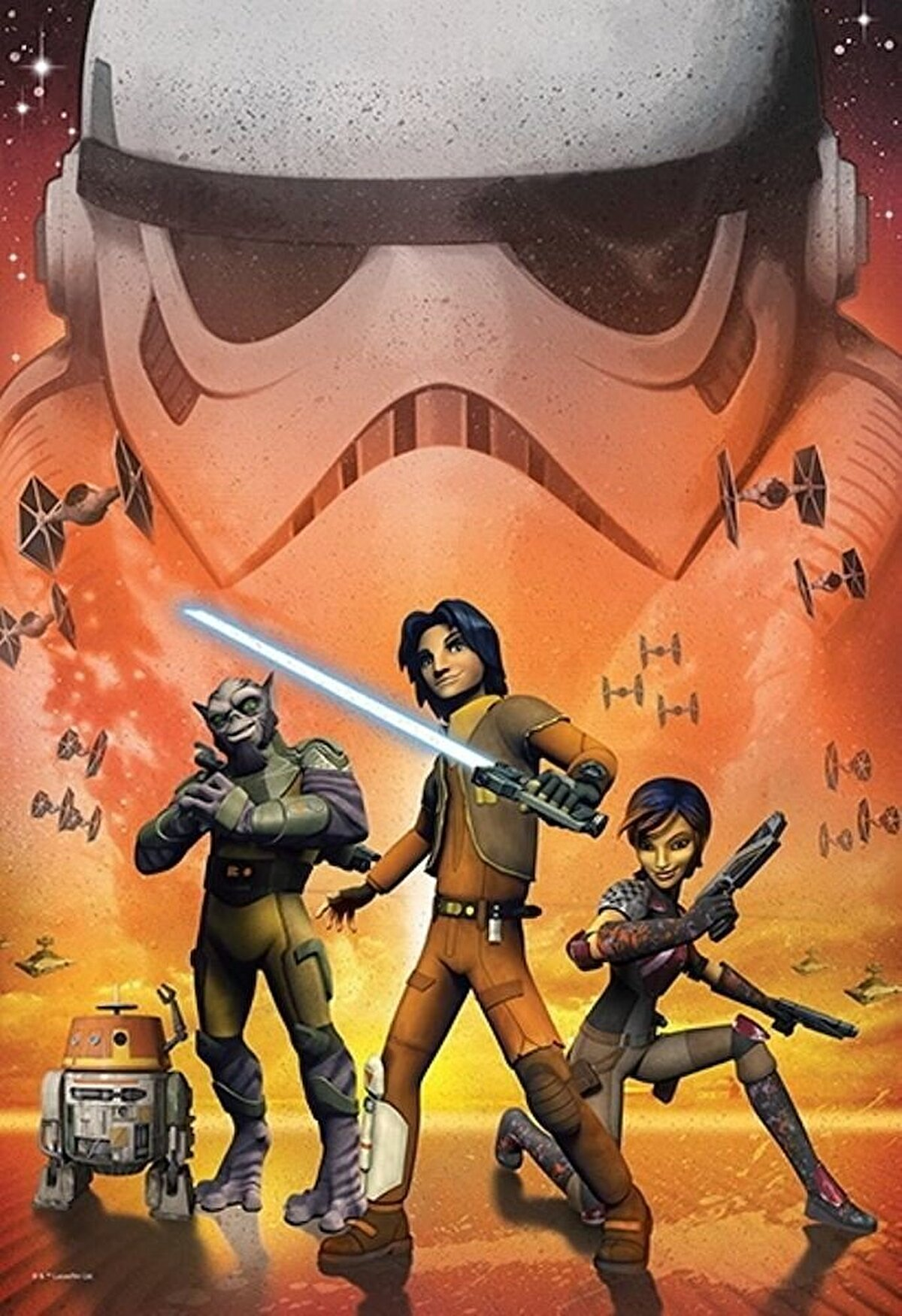 Trefl - Puzzle  Star Wars Young Rebels, 160 piese