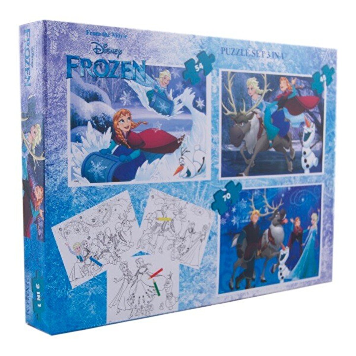 Puzzle 3 in 1 - Frozen, 172 piese