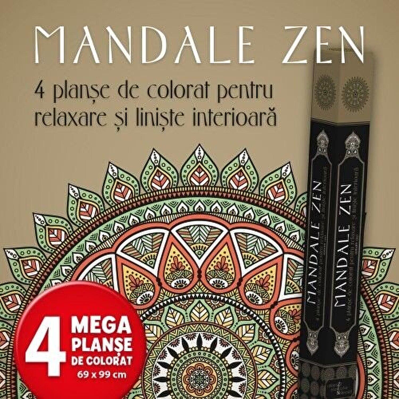 Mandale Zen 4 Planse De Colorat Pentru Relaxare Si Liniste Interioara