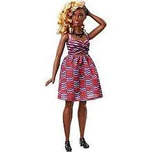 Barbie Papusa Barbie Fashionistas Mulatra cu rochie mov