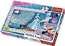 Trefl Puzzle Cenusareasa - cu marker magic, 54 piese
