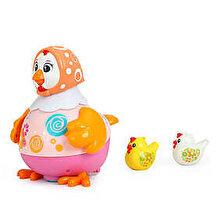 Hola Toys Jucarie interactiva - Gaina dansatoare, roz/portocaliu