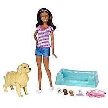 Barbie Papusa Barbie mulatra si catelusi nou nascuti