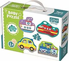 Trefl Puzzle baby - Vehicule pentru transport, 8 piese