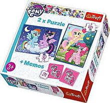 Trefl Puzzle 2 in 1 - My Little Pony, Despre Prietenie - cu memo, 78 piese
