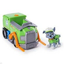 Spin Master Paw Patrol - Vehicul cu figurina Rocky Transforming Recycle Truck