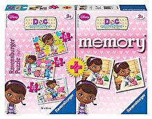 Ravensburger Set Doctorita Plusica - Joc Memory si Puzzle 3 in 1, 60 piese