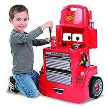 Smoby Cars - Banc de lucru Mack cu 28 de accesorii si masinuta Fulger McQueen