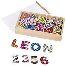 Goki Set litere si cifre magnetice - multicolore, 88 piese