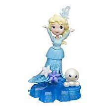 Disney Frozen - Mini papusa Elsa, cu baza-suport