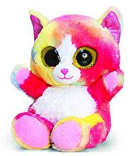 Keel Toys Jucarie plus Animotsu - Pisicuta curcubeu, 15 cm