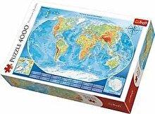 Trefl Puzzle Harta fizica a lumii, 4000 piese