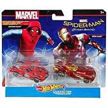 Hot Wheels - Set 2 masinute Iron Man si Spider-Man