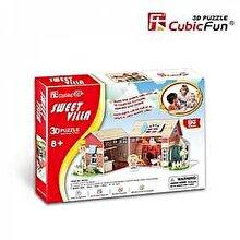 CubicFun Puzzle 3D Casuta de poveste pentru papusi, 84 piese