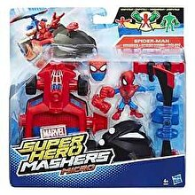 Marvel Avengers, Micro-figurina cu vehicul Super Hero Mashers - Spider-Man