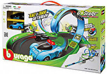 Bburago Go Gears - Circuit Race & Chase Getaway Playset, cu 2 masinute