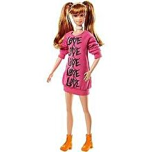 Barbie Papusa Barbie Fashionistas Rochie Roz