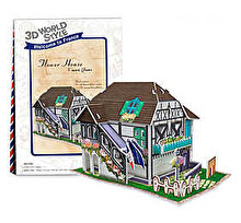 CubicFun Puzzle 3D Casa cu flori, 31 piese