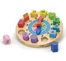 New Classic Toys Puzzle din Lemn Ceas