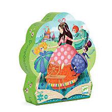 Djeco Puzzle silueta - Frumoasa adormita, 24 piese