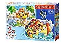 Castorland Puzzle 2 in 1 - Arca lui Noe, 24 piese