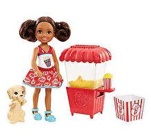 Barbie Set de joaca Barbie Chelsea Papusa si stand cu popcorn