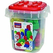 Ecoiffier Set cuburi - rosu, 30 piese