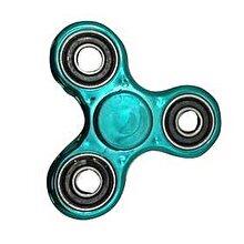 Whirlerz Fidget Spinner metallic look, turcoaz