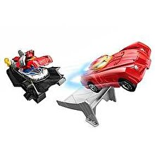 Hot Wheels Pista Hot Wheels cu Lansator Iron Man