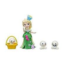 Disney Frozen - Mini papusa Elsa, cu omuleti de zapada