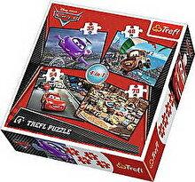 Trefl Puzzle 4 in 1 - Startul unei clatorii Cars, 207 piese