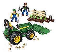Mega Bloks, John Deere - Tractor pentru ferma