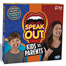 Hasbro Games Joc Speak Out - Spune in gura mare, Copii vs Parinti