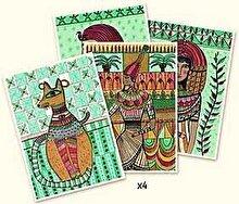 Djeco Kit creativ de colorat - Arta egipteana
