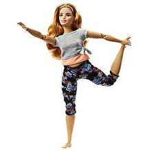 Barbie Papusa Barbie flexibila Made To Move, satena