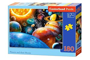Puzzle Planete si lunile lor, 180 piese