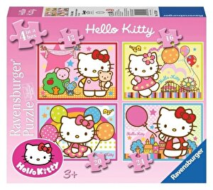 Puzzle 4 in 1 - Hello Kitty, 72 piese