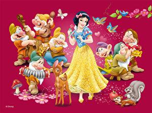 Puzzle cuburi - Printesele Disney, 12 piese