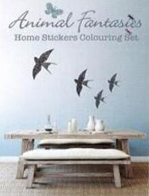 Animal Fantasies: Home Stickers Colouring Set