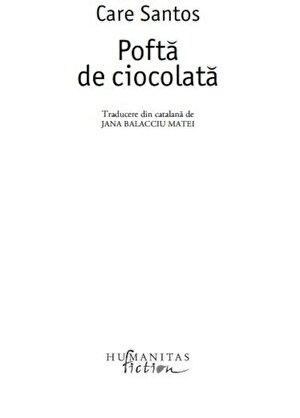 Pofta de ciocolata