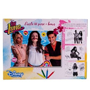 Set Puzzle 100 piese, cu schite de colorat Soy Luna