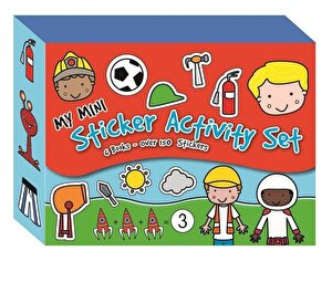 Magnetic Mini Sticker Book Set (6 Books) - Boys 2