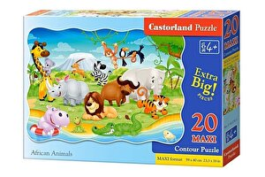 Puzzle maxi Animale din Africa, 20 piese