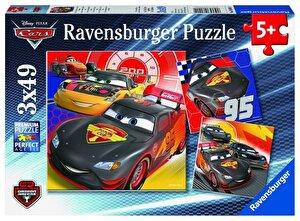 Puzzle 3 in 1 - Cars, Aventura pe sosea, 147 piese