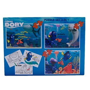 Puzzle 3 in 1 - Dory, 172 piese