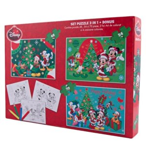 Puzzle 3 in 1 - Mickey, 172 piese