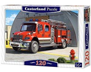 Puzzle Masina de pompieri, 120 piese